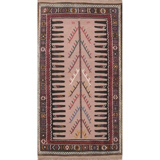 "Kilim Geometric Hand Woven Wool Persian Area Rug - 6'1"" x 3'3"""