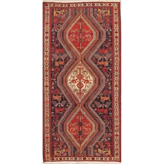 "Kilim Tribal Hand Woven Wool Persian Rug - 8'5"" x 3'7"" Runner"