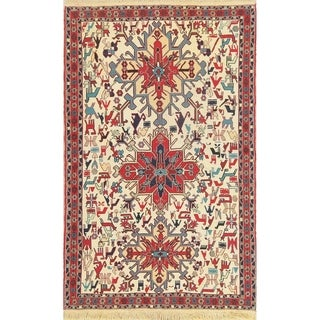 "Kilim Tribal Hand Woven Wool Persian Area Rug - 6'4"" x 4'0"""