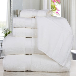 Madhvi Collection Premium Quality Luxury Cotton Oversized 800 GSM 6-Piece Towel Set