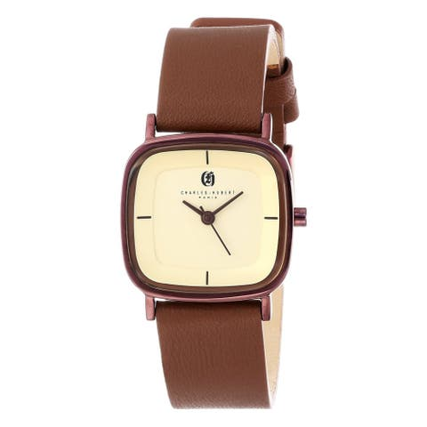 Charles Hubert Chocolate IP-plated Champagne Dial Quartz Watch by Versil