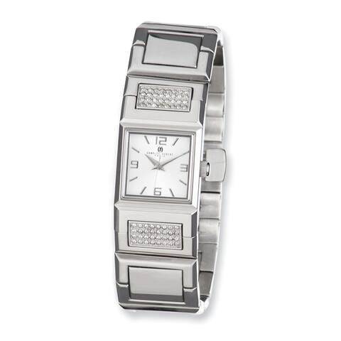 Ladies Charles Hubert Stnlss Steel Silver Dial Crystal 18mm Watch by Versil