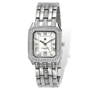 Link to Ladies Charles Hubert Stainless Steel 26 x 32mm Crystal Bezel Watch by Versil - White Similar Items in Women's Watches