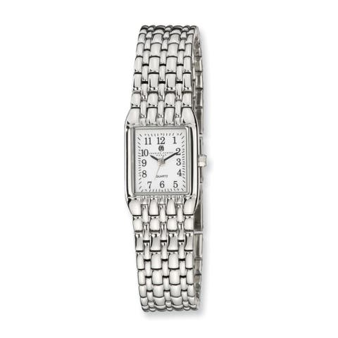 Charles Hubert Chrome Finish White Dial Quartz Watch by Versil