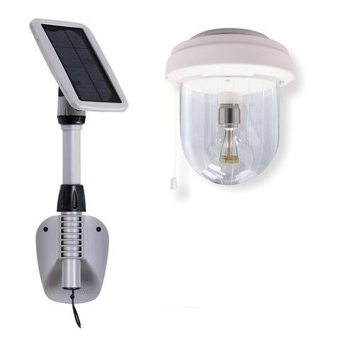 Grayton Solar Shed Light with GS Solar LED Light Bulb by Havenside Home