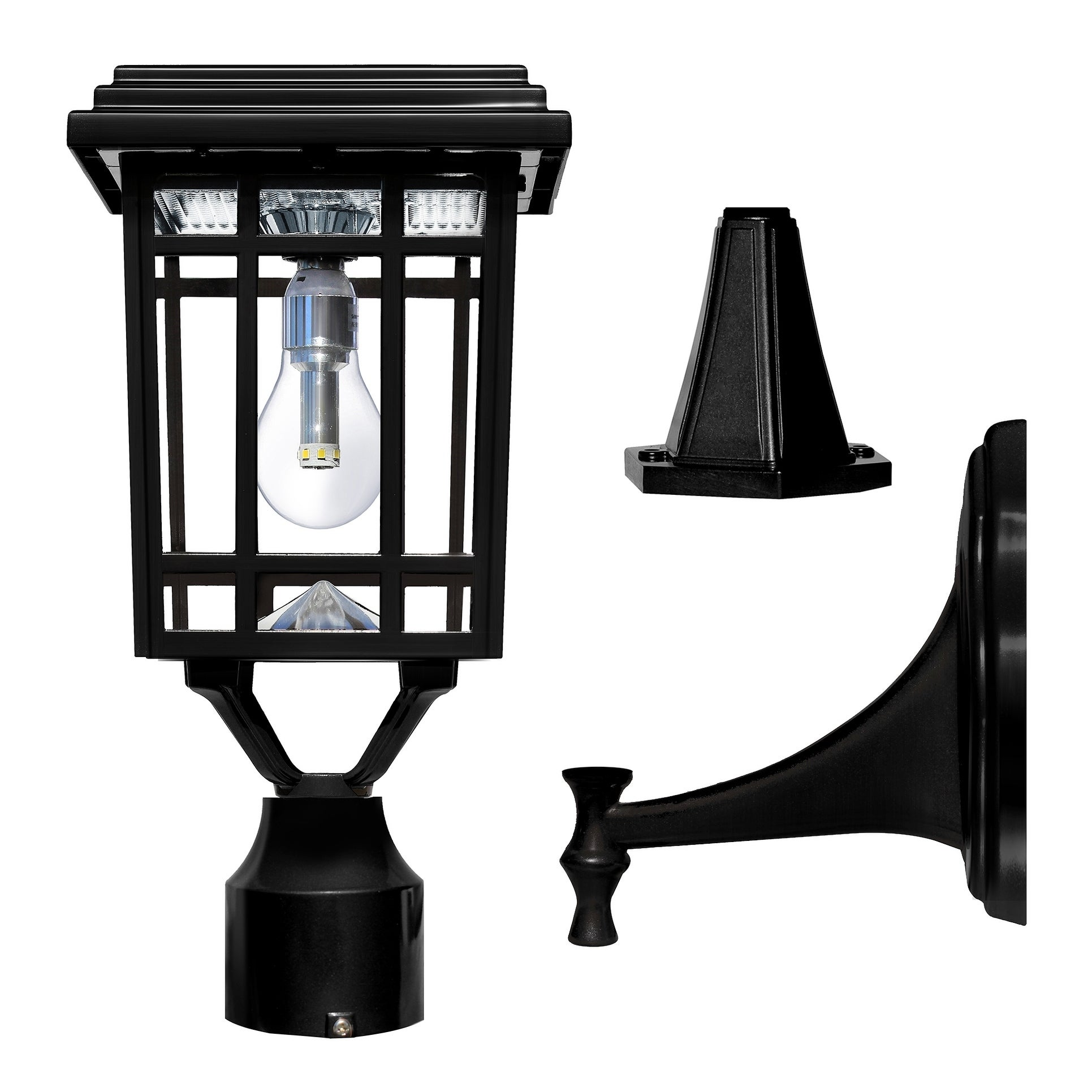 Picture of: Grayton 3 Inch Weathered Bronze Or Black Finish Solar Wall Mount Light By Havenside Home Overstock 27102235
