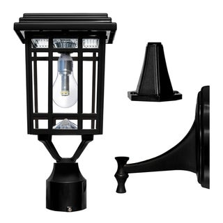 Link to Grayton 3-inch Weathered Bronze or Black Finish Solar Wall Mount Light by Havenside Home Similar Items in Pier Mount Lights
