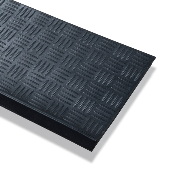 Black Ottomanson RDM8103-5PK Stair Mat 10 x 29.53