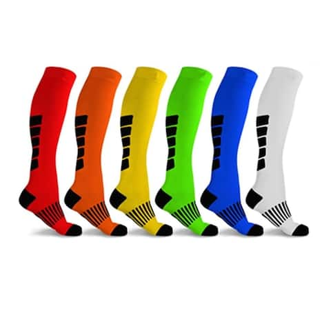 F.S.D Mid-Calf Compression Socks for Men and Women (6 Pairs)