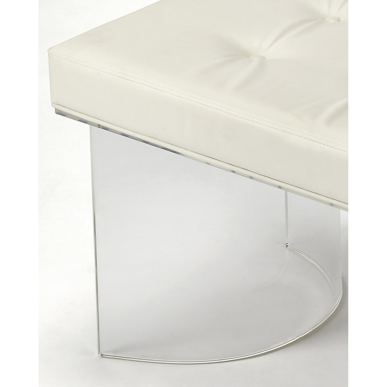 Image of: Shop Black Friday Deals On Butler Ellipse Clear Acrylic Vanity Stool On Sale Overstock 27102377