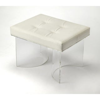 Butler ellipse clear acrylic vanity stool