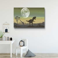 Age Of Dinosaurs Sage Gallery Wrapped Canvas