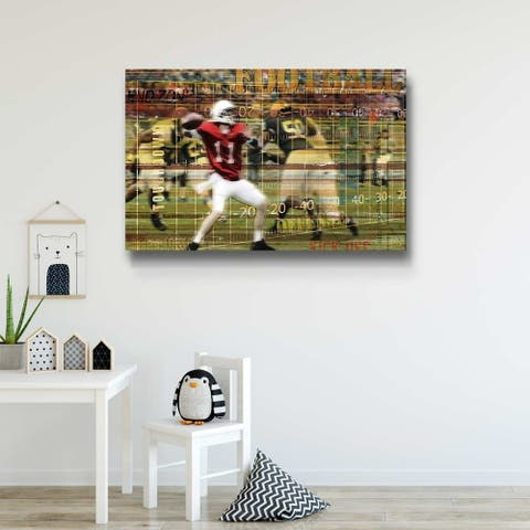 Football Fans Gallery Wrapped Canvas