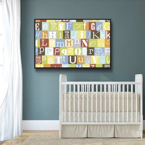 Now I Know My Abc's Gallery Wrapped Floater-framed Canvas