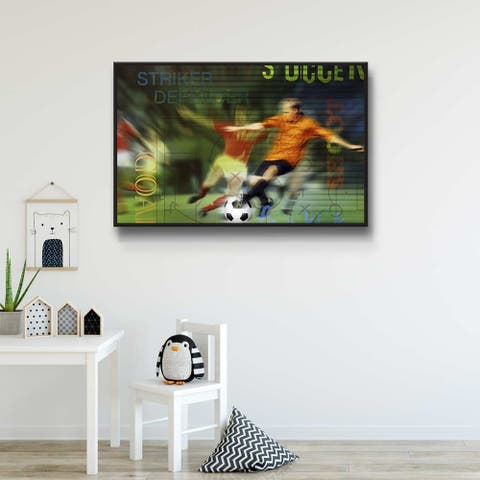 Soccer Fans Gallery Wrapped Floater-framed Canvas