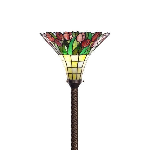 Tiffany-style Tulip Torchiere