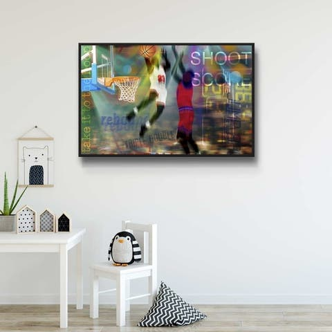 Basketball Fans Gallery Wrapped Floater-framed Canvas