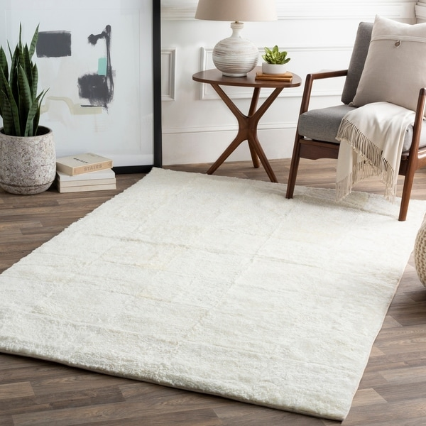 Natale Cream Modern Sheepskin Area Rug
