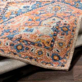 Giulietta Multicolored Wool Updated Traditional Area Rug - 3' x 2'
