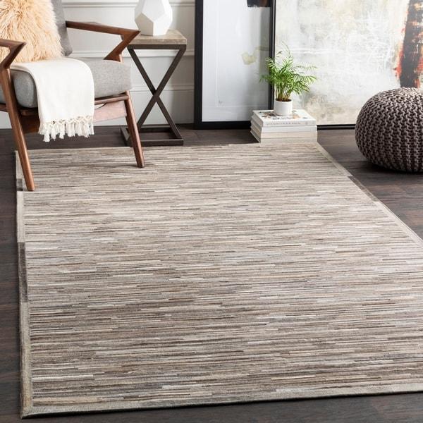 Michala Hide/Leather Area Rug