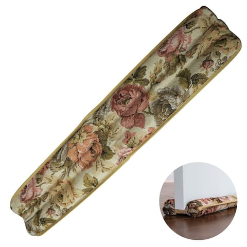 Roll over image to zoom in Evelots Door Draft Stopper-Floral-Save-Cool/Heat Home Better-No Repositioning