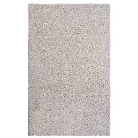 """Laura Ashley Luxury Ivory Shag Area Rug (7'10"""" X 10') by Gertmenian - 7'10 x 10'"""
