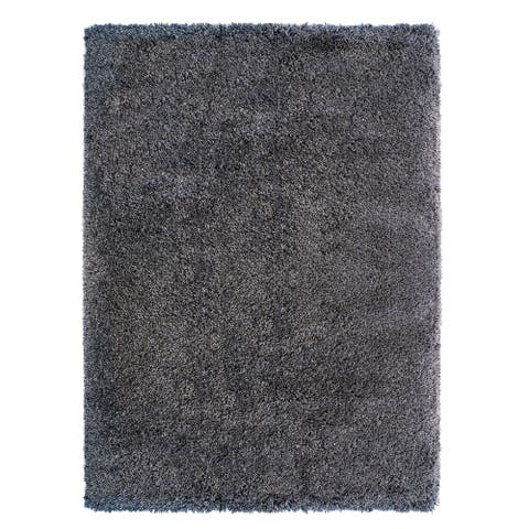 "Laura Ashley Luxury Gray Shag Area Rug (7'10"" X 10') by Gertmenian - 7'10"" X 10'"
