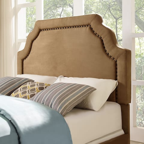 Loren Keystone Upholstered Full/Queen Headboard in Camel Microfiber