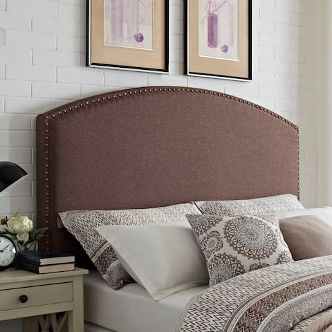 Cassie Curved Upholstered King/Cal King Headboard in Bourbon Linen