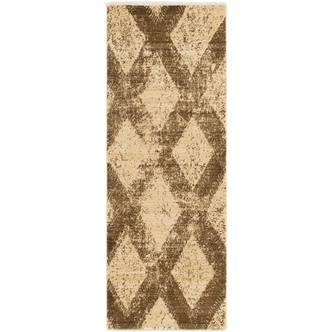 Copper Grove Jermuk Blue/Tan Diamond Area Rug