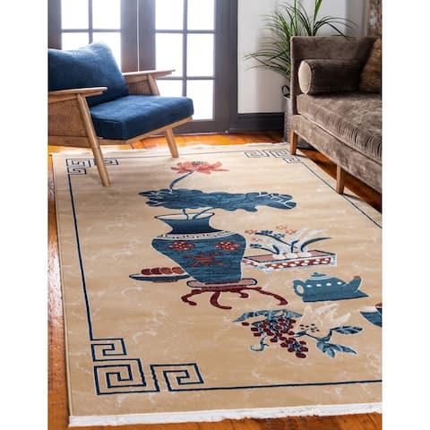 Unique Loom Gansu Ceremony Area Rug