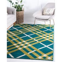 Jane Seymour Plaid Area Rug