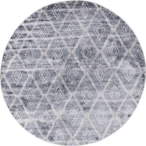 Carson Carrington Faglekarr Unique Loom Titan Diamond Area Rug