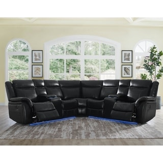 Lamar 4-Piece Power Reclining Sectional by Greyson Living