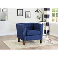 Deals on Greyson Living Chafee Button Tufted Accent Chair