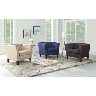 Link to Chafee Button Tufted Accent Chair by Greyson Living Similar Items in Living Room Chairs