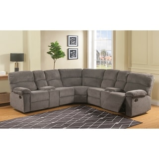 Clark 3-Piece Reclining Sectional with Hidden Storage by Greyson Living