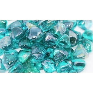 "1"" Light Blue Luster Fireglass Diamonds- 10lb box"