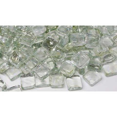25mm Ice Fireglass Cubes- 10lb box