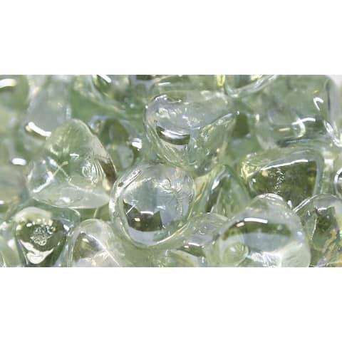 "1"" Ice Luster Fireglass Diamonds- 10lb box"