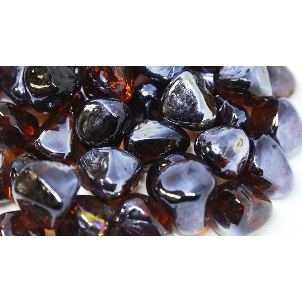 "1"" Amber Luster Fireglass Diamonds- 10lb box"
