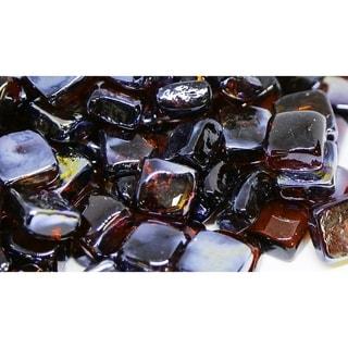 25mm Amber Fireglass Cubes- 10lb box