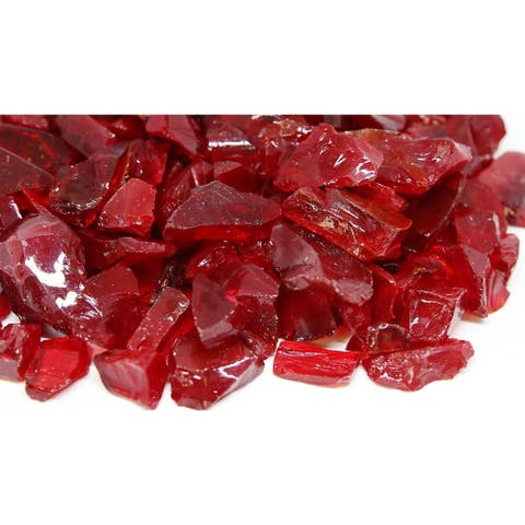 20-30mm Red Fireglass Rocks- 10lb box
