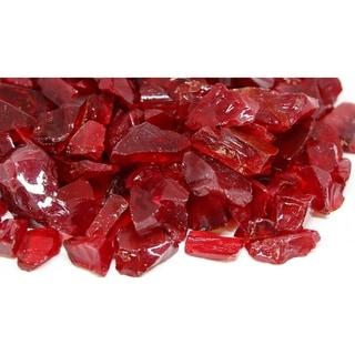 20-30mm Red Fireglass Rocks- 10lb box