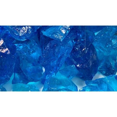20-30mm Light Blue Fireglass Rocks- 10lb box