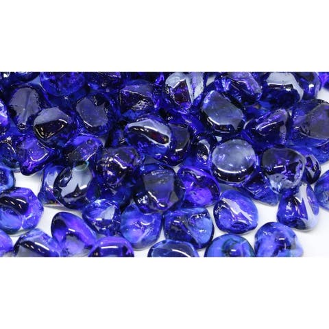 25mm Cobalt Blue Fireglass Diamonds- 10lb box