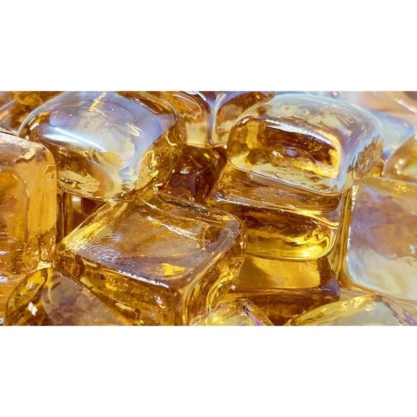 25mm Caramel Fireglass Cubes- 10lb box