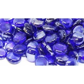"1/2"" Royal Blue Luster Fireglass Beads- 10lb box"