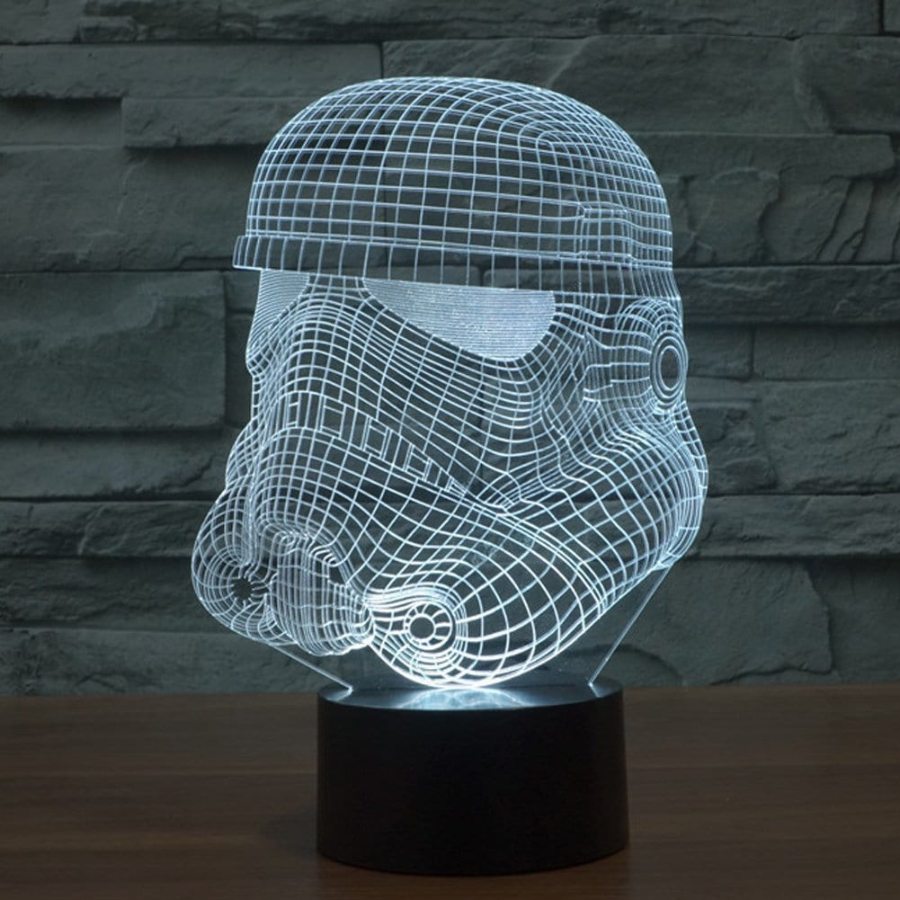 Stormtrooper Star Wars Death Star 3D Acrylic LED 7 Colour Night Light Touch Lamp