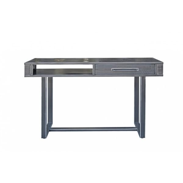 Modrest Hardy Modern Black Acacia Console Table
